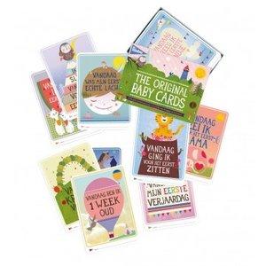 KLEINE GIRAF milestone 30 baby kaarten: original