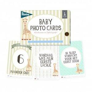 KLEINE GIRAF milestone 24 baby kaarten: sophie la girafe