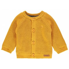 NOPPIES unisex vestje knit longsleeve lou honey yellow
