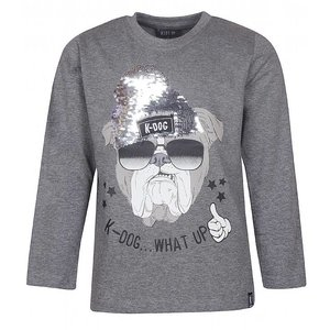 KIDS - UP jongens longsleeve k-dog semi grey melange