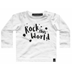 YOUR WISHES jongens longsleeve rock this white