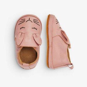 MELTON leren schoenen pink