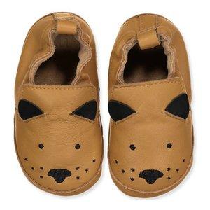 MELTON leren schoenen brown