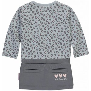 Quapi Quapi meisjes jurk light grey leopard zabrina nos