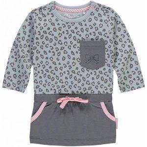 Quapi meisjes jurk light grey leopard zabrina