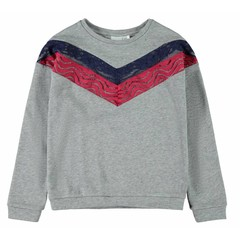 NAME IT meisjes sweater grey melange