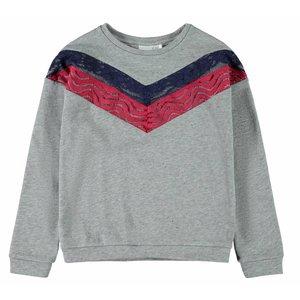 NAME IT NAME IT meisjes sweater grey melange nos