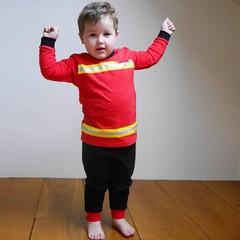 FUN2WEAR jongens brandweer pyjama true red