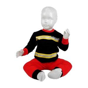 FUN2WEAR jongens brandweer pyjama black