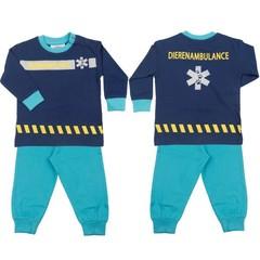 FUN2WEAR unisex ambulance/dierenambulance pyjama twilight blue