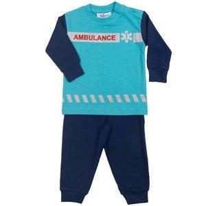 FUN2WEAR unisex ambulance/dierenambulance pyjama turquoise