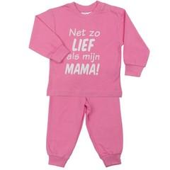 FUN2WEAR meisjes lief als mama pyjama sachet pink