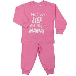 FUN2WEAR Fun2Wear meisjes lief als mama pyjama sachet pink