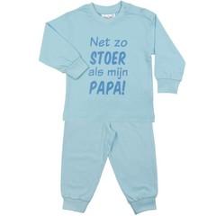 FUN2WEAR jongens stoer als papa pyjama light blue