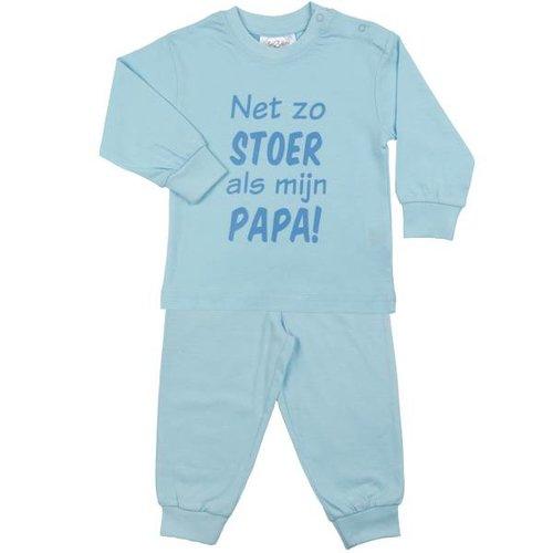 FUN2WEAR Fun2Wear jongens stoer als papa pyjama light blue