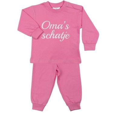 FUN2WEAR Fun2Wear meisjes oma's schatje pyjama sachet pink