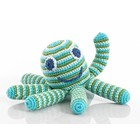 KLEINE GIRAF pebble rammelaar octopus blue/green