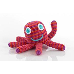 KLEINE GIRAF pebble rammelaar octopus pink