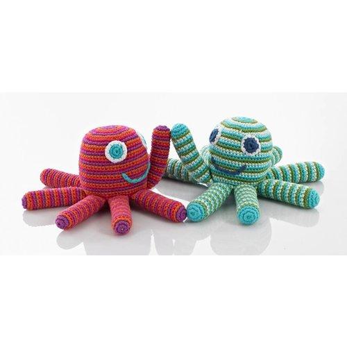 KLEINE GIRAF KLEINE GIRAF pebble rammelaar octopus pink