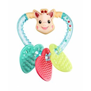 KLEINE GIRAF sophie de giraf bijtrammelaar heart geschenkdoos 3m+