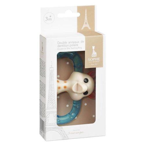 KLEINE GIRAF KLEINE GIRAF sophie de giraf dubbele koelbijtring geschenkdoos 3m+
