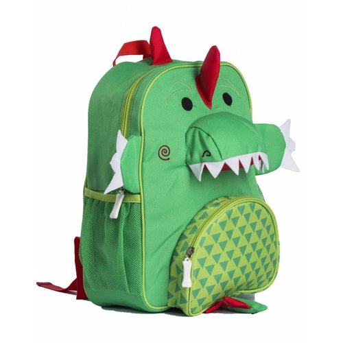 KLEINE GIRAF KLEINE GIRAF jongens zoocchini kinderrugzak devin the dinosaur 3+ green