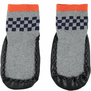 NAME IT jongens timymikla moccasin sokken grey melange