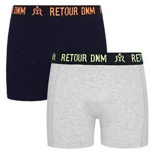 RETOUR DENIM DE LUXE jongens 2-pack boxershorts dark blue barend nos