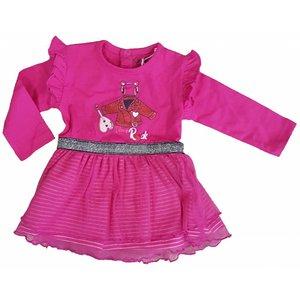 KNOT SO BAD meisjes jurk print rock pink