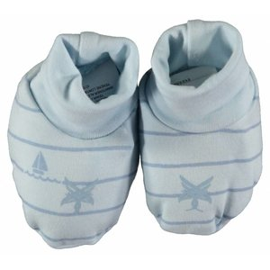 LCEE kidswear jongens sloffen powder blue boat stripes