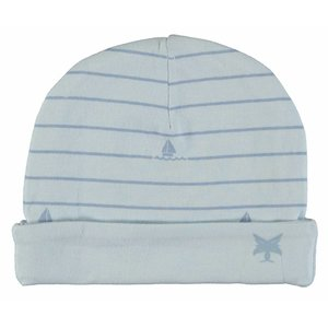 LCEE kidswear jongens muts powder blue boat stripes