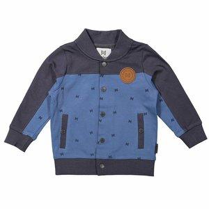 KOKO NOKO jongens vest denim blue + dark grey