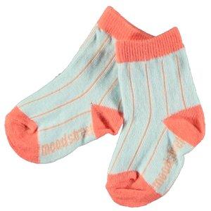 MOODSTREET meisjes sokken pale red