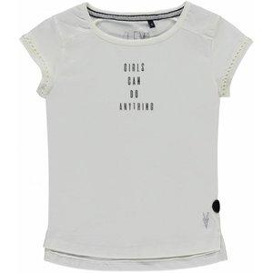 LEVV meisjes t-shirt off white cayenne