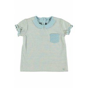 MOODSTREET meisjes t-shirt collar girls light blue