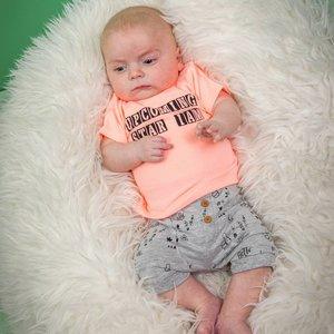 DIRKJE BABYKLEDING jongens t-shirt neon peach