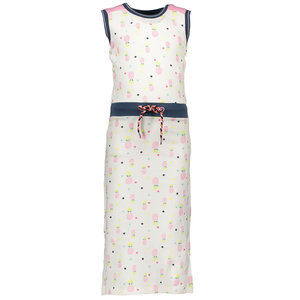 BAMPIDANO meisjes long jurk pink allover