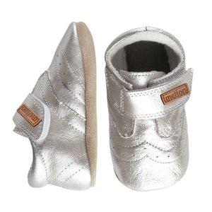 MELTON schoenen silver velcro