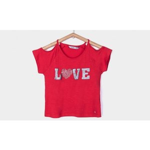 TIFFOSI Tiffosi meisjes t-shirt red paulina