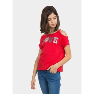 TIFFOSI meisjes t-shirt red paulina