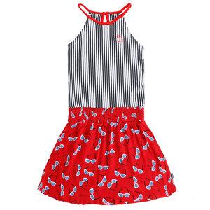 LITTLE MISS JULIETTE meisjes jurk red