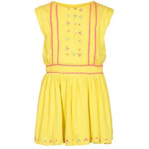 LE BIG meisjes jurk citron yellow natalie