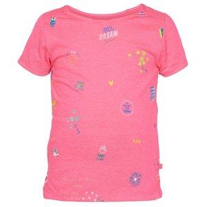 LE BIG meisjes t-shirt neon pink niola
