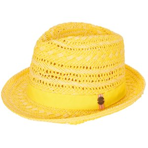 LE BIG meisjes hoed citron yellow neda