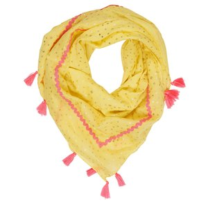 LE BIG meisjes sjaal citron yellow nalena