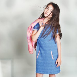 LE BIG meisjes jurk blue hyacint nena