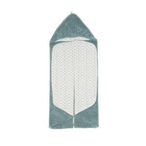 SNOOZEBABY unisex wikkeldoek trendy wrapping gray mist 80 x 80cm