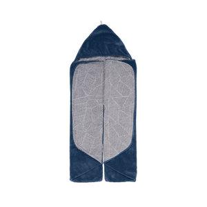 SNOOZEBABY unisex wikkeldoek trendy wrapping midnight blue 80 x 80cm