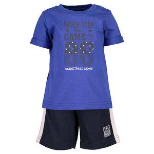 BLUE SEVEN jongens set: shirt en korte broek ocean