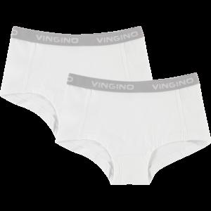 VINGINO meisjes 2-pack onderbroeken real white nos